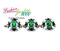 Summer Designer Grand Stone Chunky Statement Bracelet Jewelry  For Women Free Shipping