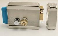 Double Head Stainless Steel Electronic Door Lock Mounted on Left Right Swinging Door Support Video Doorphone Intercom