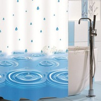 2014 thick shower curtain waterproof blue globularness buckle bathroom curtain waterproof peva shower curtain