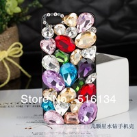 Чехол для для мобильных телефонов DIY elegant bling crown pearl crystal diamond cell phone hard case cover for Iphone 4 4s