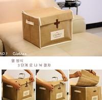 50 zakka fluid vintage leather buckle on storage box finishing box clothes storage box