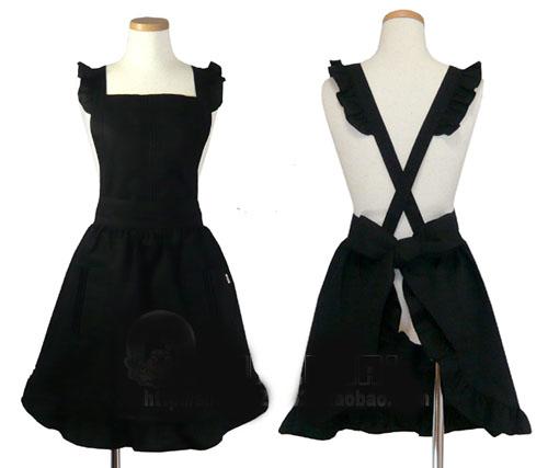 Fun-set-aprons-fashion-fun-apron-waterproof-white-black-free-shipping ...