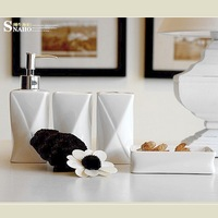 Petty bourgeoisie ceramic bathroom four piece set kit bathroom set super white colour