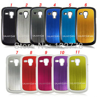 Brushed Aluminum Case for Samsung Galaxy S3 S III mini i8190 cases! Metal Hard Back+Soft Microfibre inside Shookproof