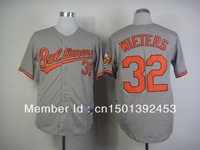 Free Shipping 2013 Newest Men's Baseball Jerseys Baltimore Orioles #32 Matt Wieters Cool Base Jersey Embroidery Logos