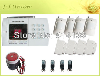 PSTN Phone call Home security  burglar alarm system Kit   PIR Motion Detector