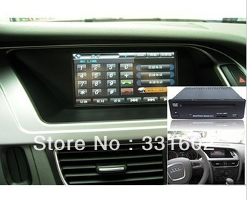 """Free shipping Best Quality 2 Double Din Car DVD Player for AUDI A4 A5 Q5 Touch Screen 7"""" HD DVD GPS Bluetooth"""