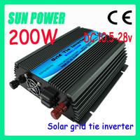 2013 NEW!! 200W Grid Tie Inverter for Solar Panel, DC10.5~28V Pure Sine Wave Inverter for Solar PV System