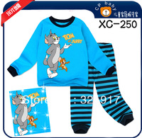 New arrival 6sets/lot  Long sleeves cotton baby pajamas kids cartoon sleepwear  baby costumes
