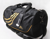 Free shipping/wholesale new fashion 2013 drum shape import silk nylon large travel bag for men