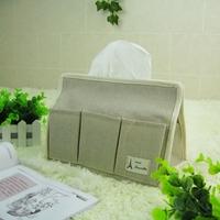 Zakka fluid fabric storage bag waterproof multifunctional pumping paper box tissue packing carton for 2 pcs