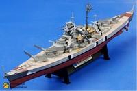 free shipping ! FOV  86201 1:1000 WWII German battleship Bismarck alloy Military Model