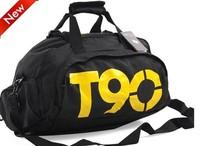 Free shipping/wholesale canvas large capacity men's bag + independent shoes sports bag + gym bag + ladies travel shoulder bag