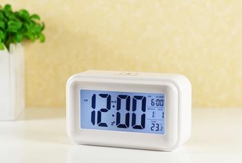 Touch sensor alarm clock luminous bedside clock silent led electronic clock alarm clock calendar