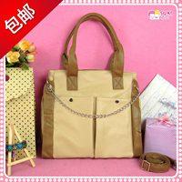 2012 women's handbag fashion japanese style casual ol PU commercial color block decoration shoulder bag messenger bag handbag