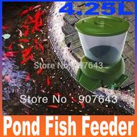 automatic pond fish feeder - 4.25L 1.6kg 1 to 90 days fish food Digital Aquarium Auto fish Feeder Timer Free Shipping