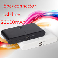 1pc 20000mAh Universal Backup USB Battery Power Bank External Battery Pack Charger With Retail Package