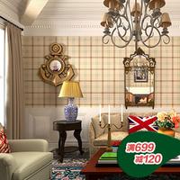 Free shipping Wallpaper seclusion1 sofa fashion brief fashion plaid wallpaper 39