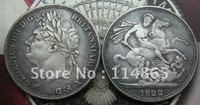 British 1822 George IIII Crown COIN COPY FREE SHIPPING