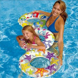 Free shipping Intex swim ring baby transparent floating ring bunts swimming 1 - 4 2013 New listing hot(China (Mainland))