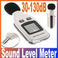 Portable Large LCD screen 4 Digital display Sound Level Meter Tester Decibel Logger 30-130dB Freeshipping