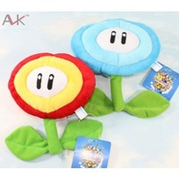 Super Mario Bros Brothers Fire Flowers Ice Plush Mario Action Doll