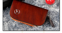 For Mercedes-Benz wallet cover keyrings key holders key bags keychain genuine leather car accessories Free shipping