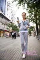 Plus size clothing 2013 mm spring long-sleeve hooded cardigan sports set female sweatshirt