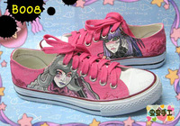 Low hand-painted shoes graffiti shoes canvas shoes female - - b008 customize beauty