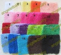 free shipping 9*7.5inch large size girls crochet tube tutu top Chest Wrap wide Crochet headbands 30pcs