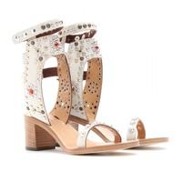 free shipping 2013 Isabel marant sandals multicolour crystal rivet wood sandals no tax
