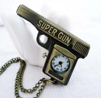 Watch Special Month Vintage cartoon pistol pocket watch necklace vintage pocket watch ladies watch