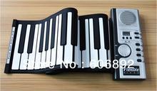 Usb 61 teclas de silicone flexível Roll Up eletrônico do teclado de Piano MIDI instrumento Musical órgão eletrônico portátil grátis frete(China (Mainland))
