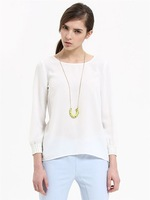 2013 New Fashion Womens Chiffon Long Sleeve Rhinestones Shirts