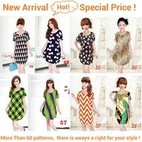 New 2014 women big size novelty dress fashion casual dress loose slim waist knee-length cute dresses wholesale sotcks clearance