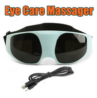 New Sunglass Style DC Electric Care Forehead Eye Massager Magnetic Vibration Release Alleviate Fatigue Massager Free Shipping