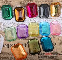 Diy accessories falt bottom acrylic rhinestone 30mm* 40mm rectangular falt bottom rhinestone