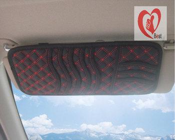 car cd holder fit on car sun visor CD storage bag anti slip hanging ticket pocket as auto car accessory Free Shipping
