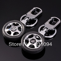 Rotary tyre car emblem keychain male genuine leather commercial car supplies logo
