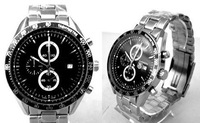 sport Luxury Men Chronograph Link Calibre Watch stainless steel Tag Limited Edition automatic self wind Dive Black Dial