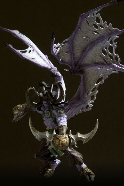 "World of Warcraft Action Figure Illidan Stormrage Deluxe Collector WOW Demon Hunter 9"" PVC Toys  Free Shipping"