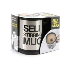 Hot Selling Automatic Mixing Coffee Cup Stainless Steel Self Stirring Lazy Coffee Mug 350ML Free Shipping