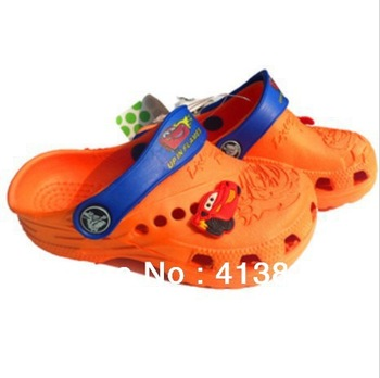 2013 Summer New Boys Cars Summer Mules Shoes,Boys EVA Beach Sandals,Garden Shoes 24~28CM 3Colors Free Shipping