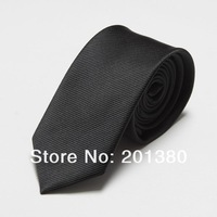 men's slim ties black neck tie solid novelty neckties