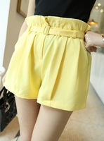 Free shipping 2013 candy color involucres high waist shorts send strap