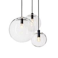 Modern brief rustic restaurant lights bedroom lamp light glass ball pendant light  free shopping