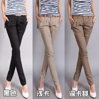 Free Shipping women's sexy fashion 1600 2013 casual design long pencil pants pants straight harem pants send strap