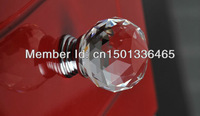 10 pieces/lot crystal handle high quality furniture handle cabinet pull with zinc alloy plate