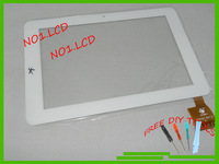 10.1'' LCD touch screen,touch panel/digitizer/glass for tablet PC sanei N10,Ampe A10 quad core,cable