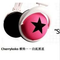 3.5mm Cool big stars headphone headset earphone for MP3 MP4 PC